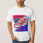 100% American-God Bless America Men's T-Shirt