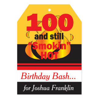 100 and Still Smokin Hot | 100th Birthday 13 Cm X 18 Cm Invitation Card
