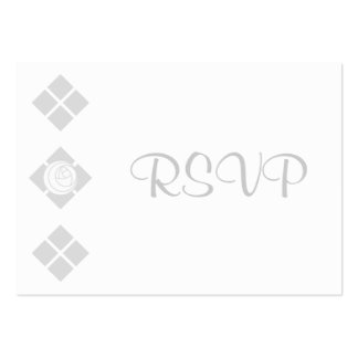 100 Art Nouveau Rose & Squares RSVP Cards Pack Of Chubby Business Cards