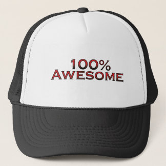 100% awesome trucker hat