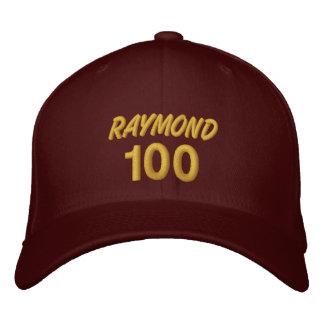 100 Birthday Custom Name GOLD Embroidery V01F Embroidered Baseball Caps