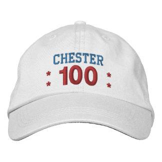 100 Birthday Custom Name RED WHITE BLUE V01F3A1 Embroidered Baseball Cap