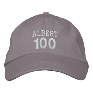100 Birthday Custom Name WHITE Embroidery V01F Embroidered Hat