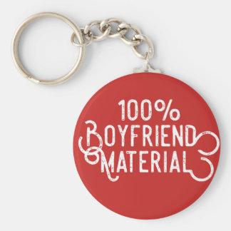 100% Boyfriend Material Key Ring