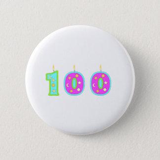 100 (Candles) 6 Cm Round Badge