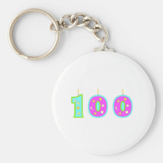 100 (Candles) Basic Round Button Key Ring