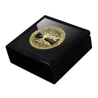 [100] Celtic Tree of Life [Gold] Gift Box