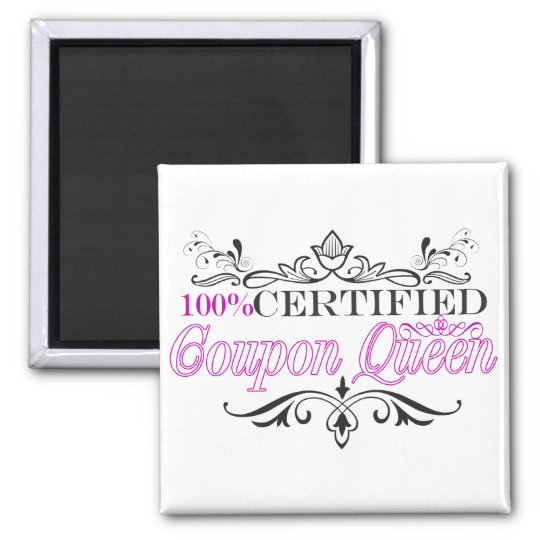 100% Certified Coupon Queen (Cerise) Magnet