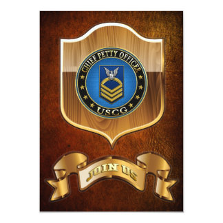 [100] CG: Chief Petty Officer (CPO) 13 Cm X 18 Cm Invitation Card