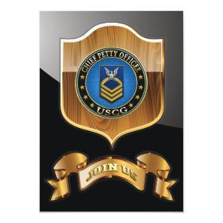 [100] CG: Chief Petty Officer (CPO) 13 Cm X 18 Cm Invitation Card
