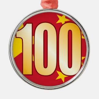100 CHINA Gold Christmas Ornament