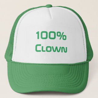100% clown trucker hat