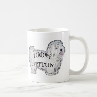 100% Cotton Basic White Mug