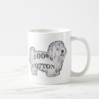 100% Cotton Basic White Mug