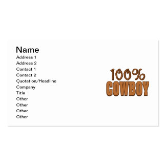 100% Cowboy Pack Of Standard Business Cards