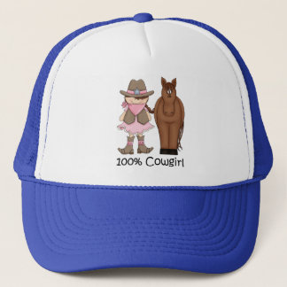 100% Cowgirl and Horse Hat
