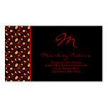 100 Crimson Red Cheetah Print Business Card