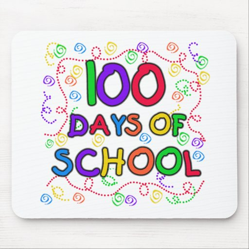 100 Days of School Confetti Tshirts and Gifts Mouse Pads