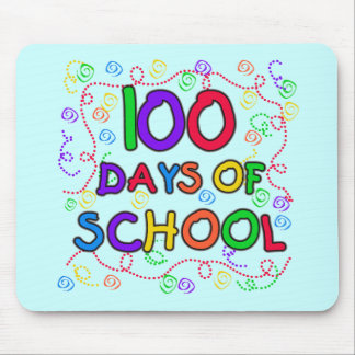 100 Days of School Confetti Tshirts and Gifts Mouse Pad