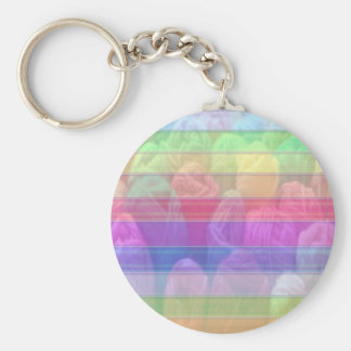 100 Design Pattern Jewel Colour Shades Hues Basic Round Button Key Ring