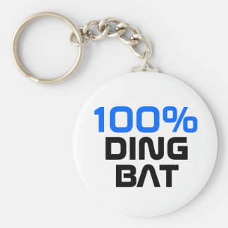 100% dingbat key ring