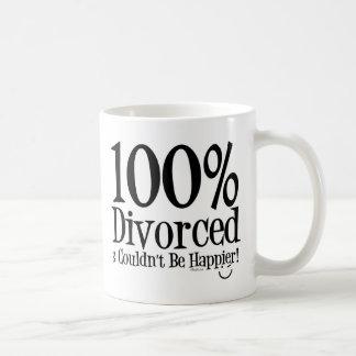 100% Divorced Basic White Mug