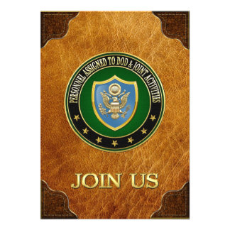 100 DOD Joint Activities CSIB Special Edition Personalized Invitation