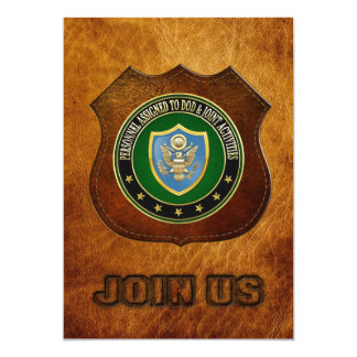 "[100] DOD & Joint Activities CSIB Special Edition 5"" X 7"" Invitation Card"