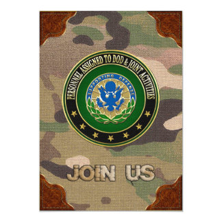 "[100] DOD & Joint Activities DUI Special Edition 5"" X 7"" Invitation Card"