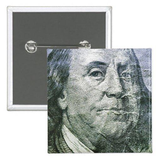 100 Dollar Bill (6) Button