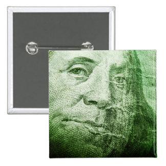 100 Dollar Bill Button