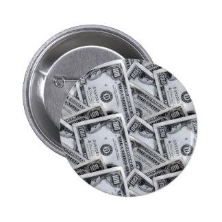100 dollar bills 1 6 cm round badge