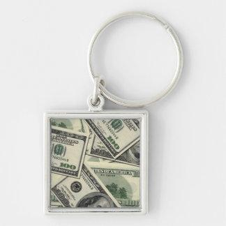100 Dollars Key Ring