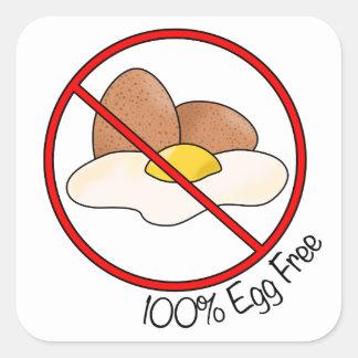 100% Egg Free Square Sticker
