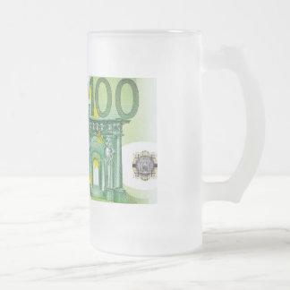 100 Euro Bills Glass Beer Mug