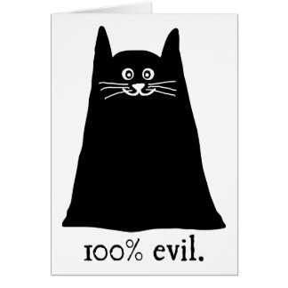100% Evil Stationery Note Card