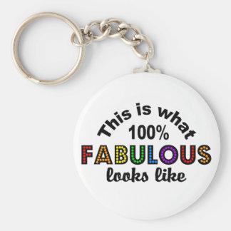 100% Fabulous key chain