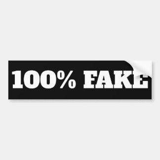 100% Fake - Sticker black