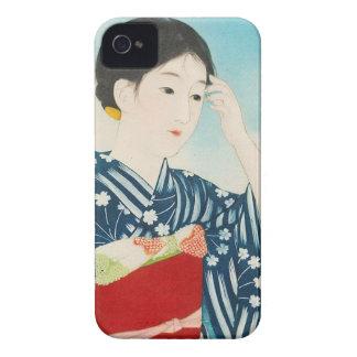 100 Figures of Beauties Wearing Takasago Kimonos iPhone 4 Cases