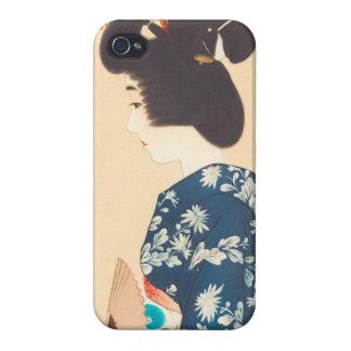 100 Figures of Beauties Wearing Takasago Kimonos Case For iPhone 4