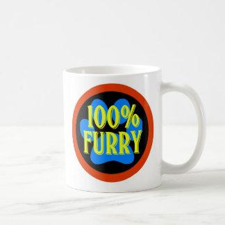 100% Furry Basic White Mug