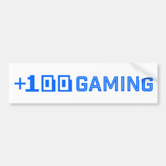 +100 Gaming Bumper Sticker/Blue & White Bumper Sticker