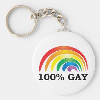 100% Gay Key Ring