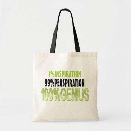 100% genius tote bags