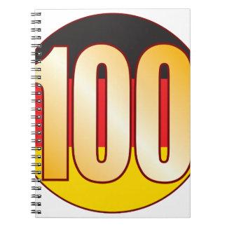 100 GERMANY Gold Notebooks