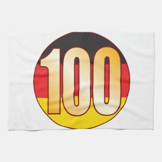 100 GERMANY Gold Tea Towel