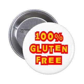 100% Gluten Free 6 Cm Round Badge