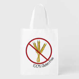 100% Gluten Free Reusable Grocery Bag