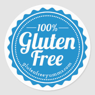 100% Gluten Free Stickers — Blue