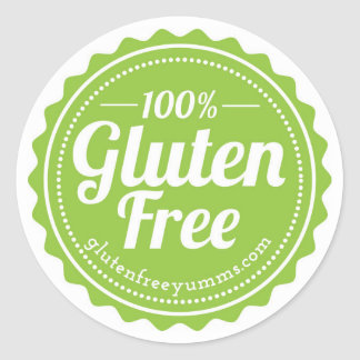 100% Gluten Free Stickers — Green